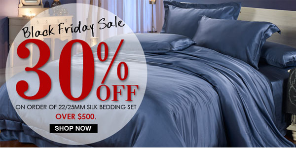 Blog 1 Black Friday & Cyber Monday Shopping Guide:Luxurious Silk Bedding Deals From Lilysilk.com