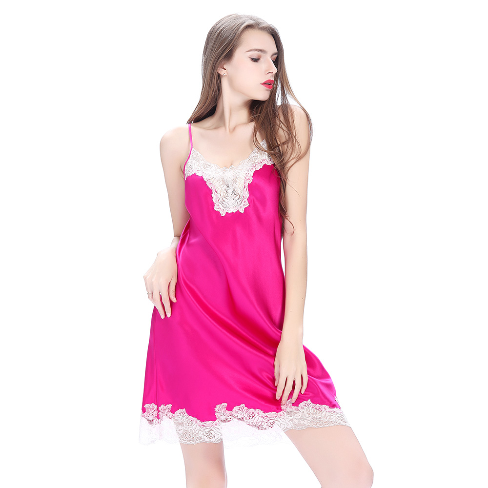 women Pink silk dress