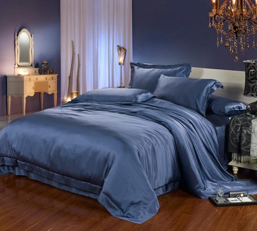 ocean blue 22mm bed linen