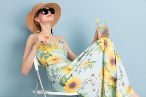 sunflower silk dress