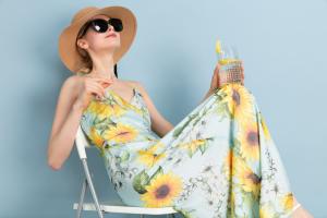 sunflower silk dress