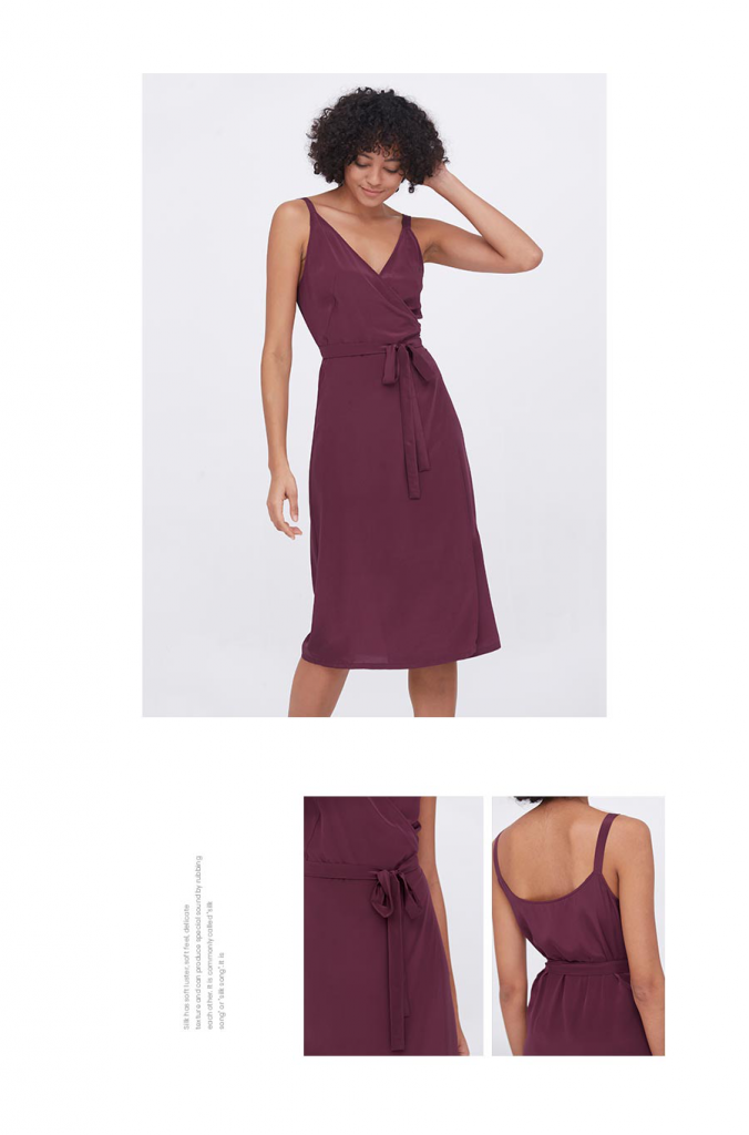 Sexy Fashion Silk Camisole Wrap Dress