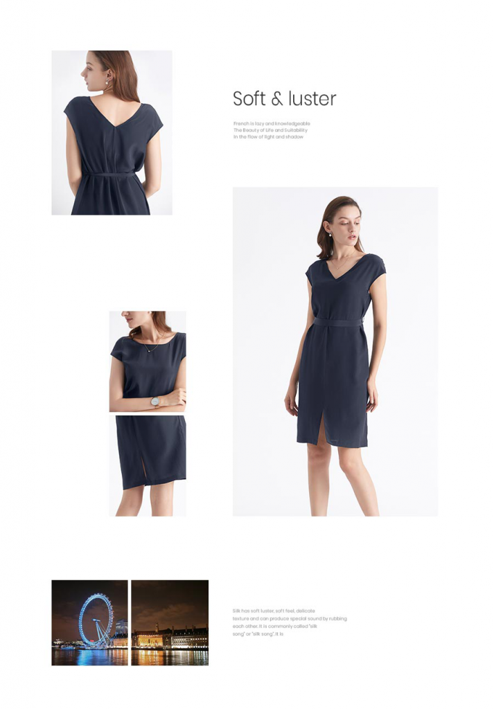 Basic Silk Dress Wearable Front and Back